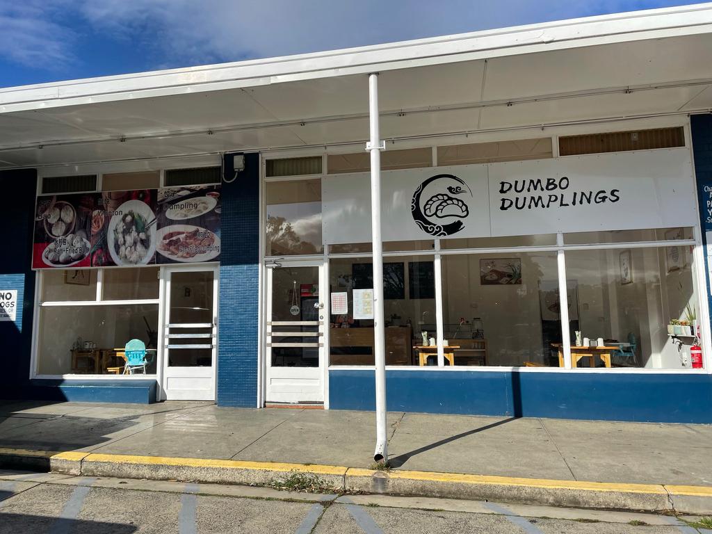 The facade of Dumbo Dumplings shop in Warrane Hobart